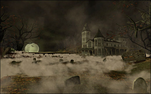 Halloween Level Design, Game Environment Challenge 2010