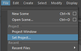 File > Set Project