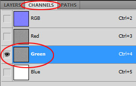 Invert Green Channel in Photoshop