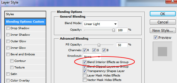 Enable Blend Interior Effects as Group