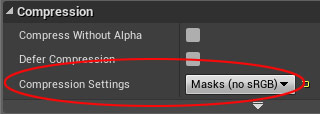 Masks texture Compression Settings