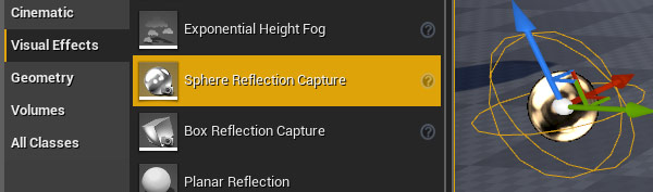 Visual Effects: Sphere Reflection Capture
