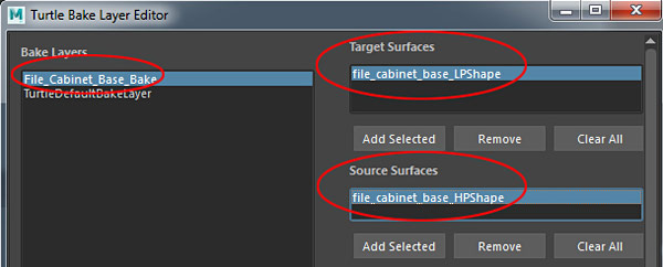 Adding Target and Source Surfaces
