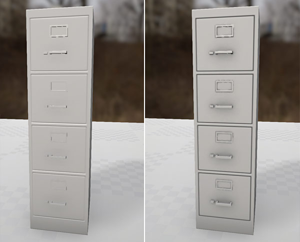 Before/After Ambient Occlusion