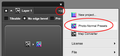 Settings > Photo Normal Presets