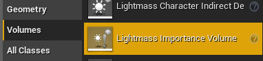 Insert Lightmass Importance Volume