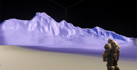 Judging scale and proportion of the terrain to the player