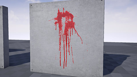 Blood Splatter Texture Decal