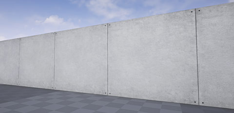 Modular Static Mesh wall set without decals