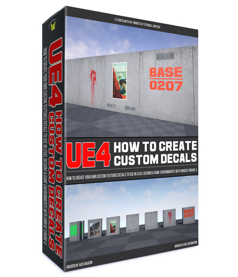 How to Create Custom Decals for UE4