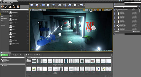 "Second Recommended Project: covered in ""UE4 The Corridor Project"""