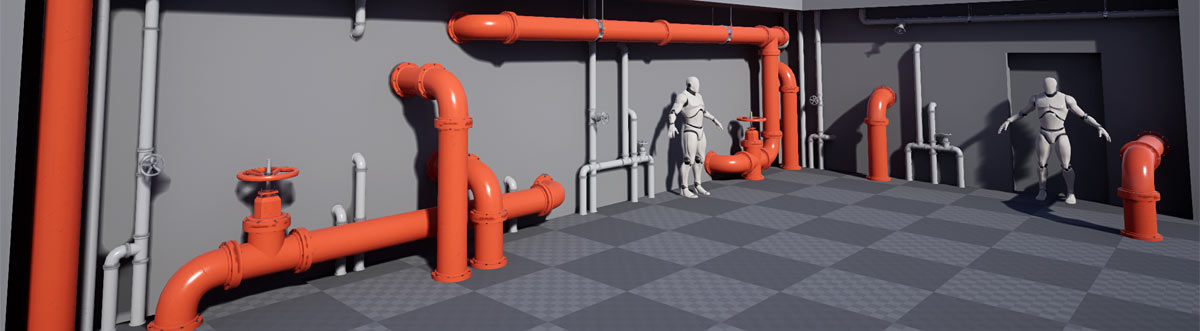 UE4 Modular Pipes Project